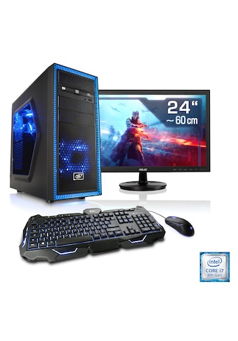 "CSL Gaming PC Set | i7 - 8700 | GeForce RTX 2060 | 16 GB RAM | 24"" TFT »Speed T9789 Windows 10 Home« kaufen"
