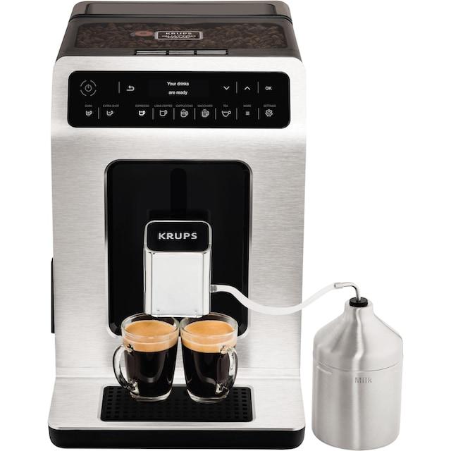 Krups Kaffeevollautomat EA891D Evidence Metal Espresso-Vollautomat, 2,1l Tank, Kegelmahlwerk