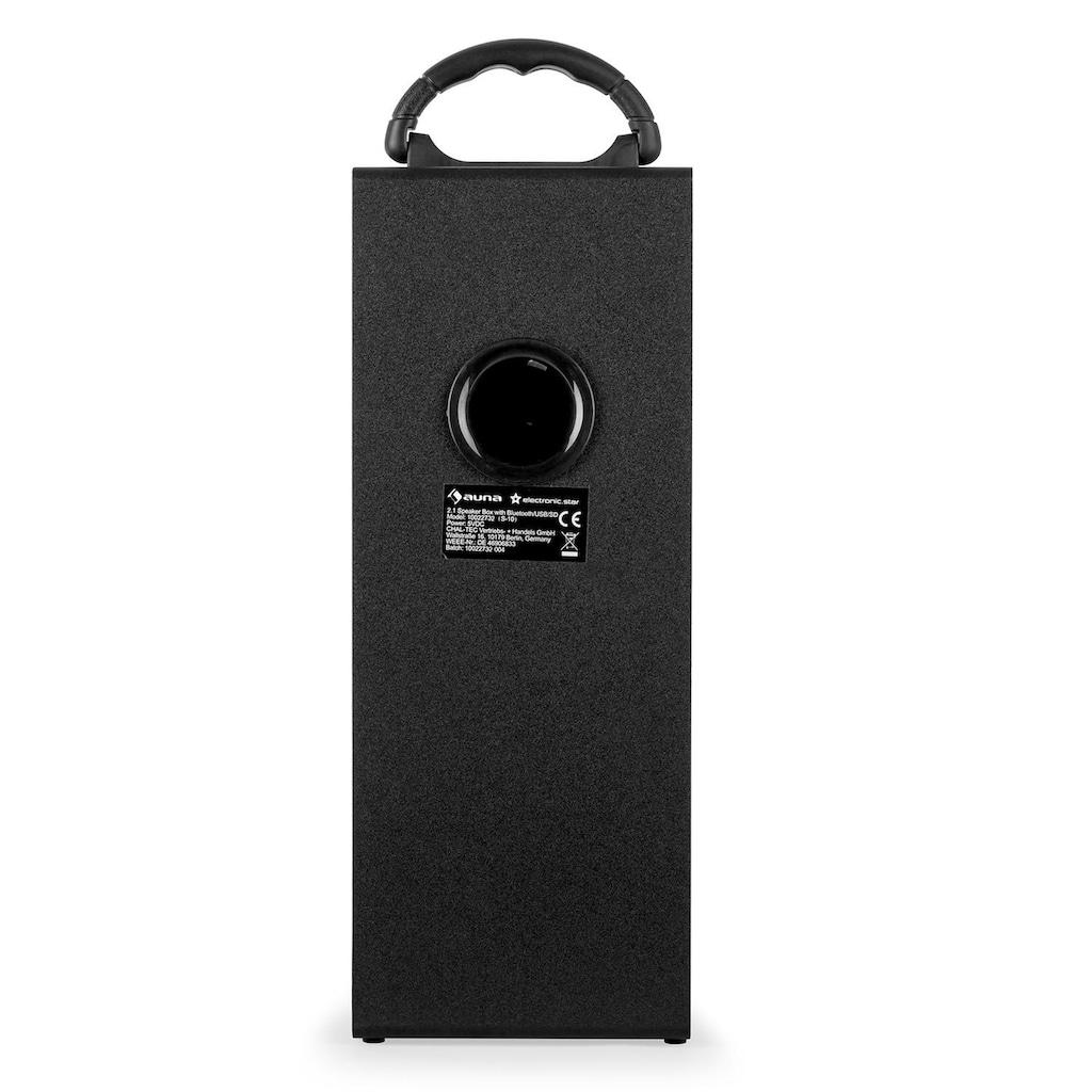 Auna Bluetooth Lautsprecher Radio USB SD AUX UKW MP3 Akkubetrieb »Beachboy XXL«