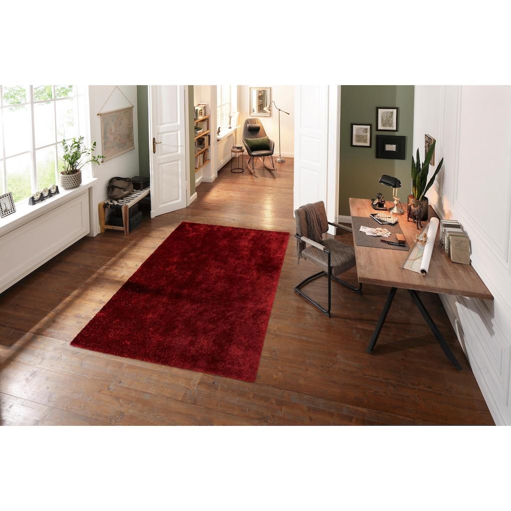 Bruno Banani Hochflor-Teppich »Dana«, rechteckig, 30 mm Höhe, Besonders weich durch Microfaser, Wohnzimmer