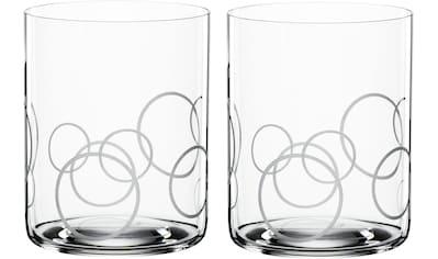 SPIEGELAU Whiskyglas »Circles«, (Set, 2 tlg.), Dekor gaviert, 430 ml, 2-teilig kaufen