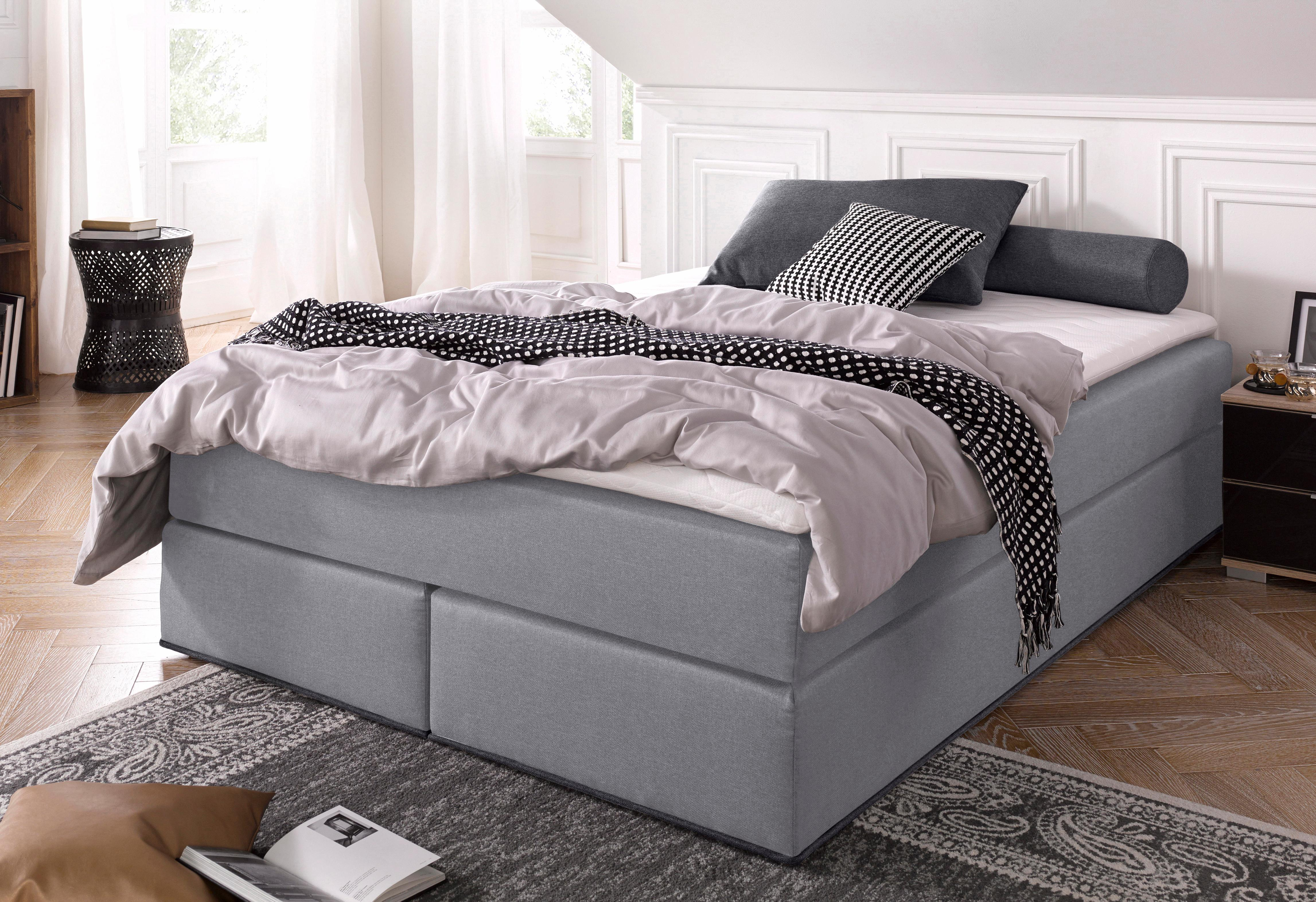 collection ab boxspringbett inkl topper bequem auf. Black Bedroom Furniture Sets. Home Design Ideas