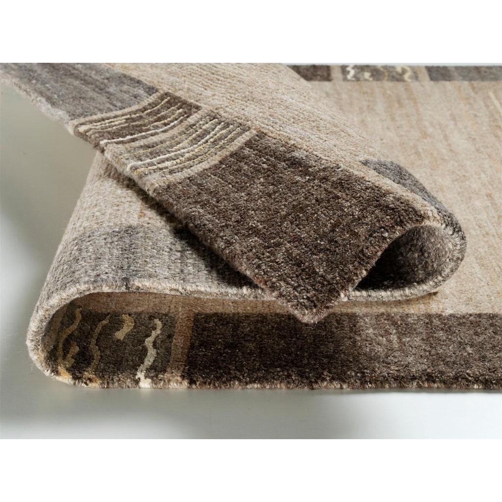 OCI DIE TEPPICHMARKE Teppich »Natura Silk Greny«, rechteckig, 20 mm Höhe, handgeknüpft, Wohnzimmer