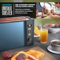 Arendo Toaster »Frukost Blau«, 2 lange Schlitze, 1500 W, 1500W mit Display
