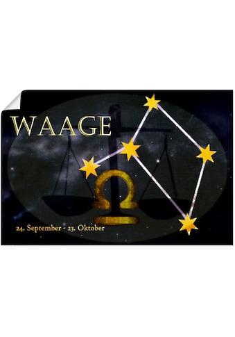 Artland Wandbild »Sternzeichen - Waage«, Bilder von Sternzeichen, (1 St.), in vielen... kaufen