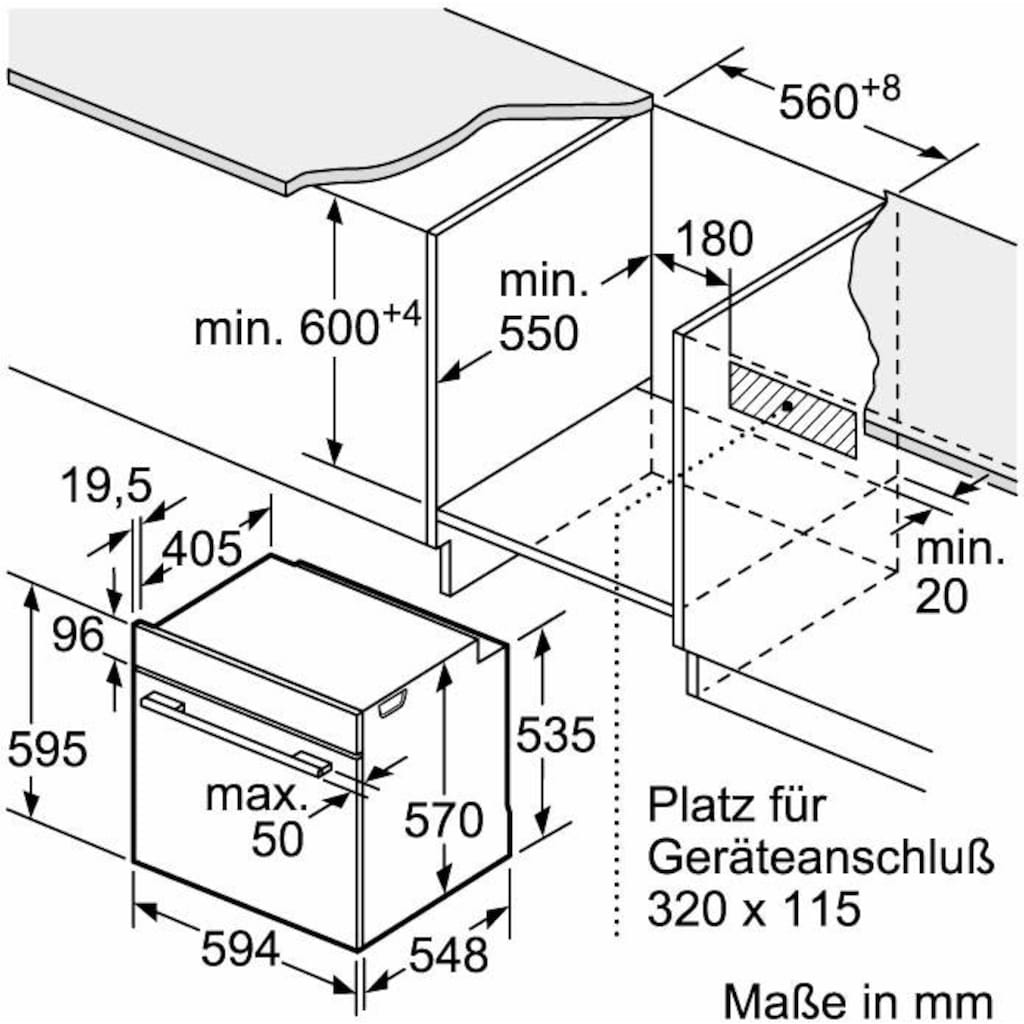 Constructa Elektro-Herd-Set »CX5HS602«, mit High-Speed-Kochzonen