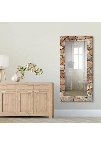 Artland Wandspiegel »Braune Steinwand« kaufen