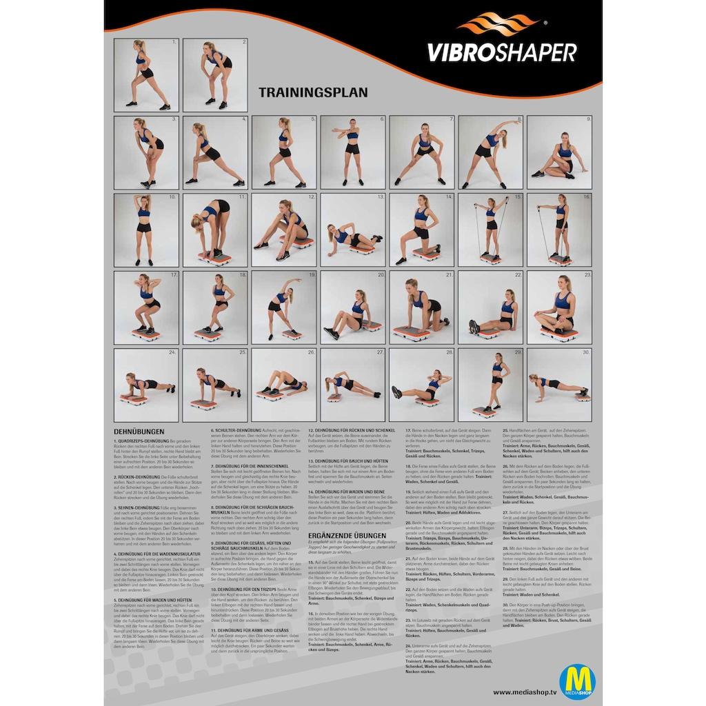 MediaShop Vibrationsplatte »VIBROSHAPER«, 200 W, 3 Intensitätsstufen, (Set, mit Trainingsbändern)