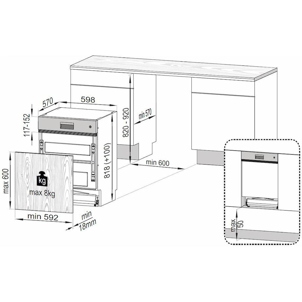 BEKO teilintegrierbarer Geschirrspüler »DSN28O35X«, DSN28O35X, 14 Maßgedecke, mit Startzeitvorwahl