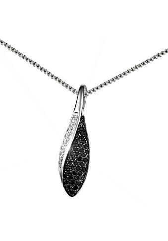 goldmaid Collier, Silber 925 schwarz weiße Zirkonia Pavee Tropfen kaufen