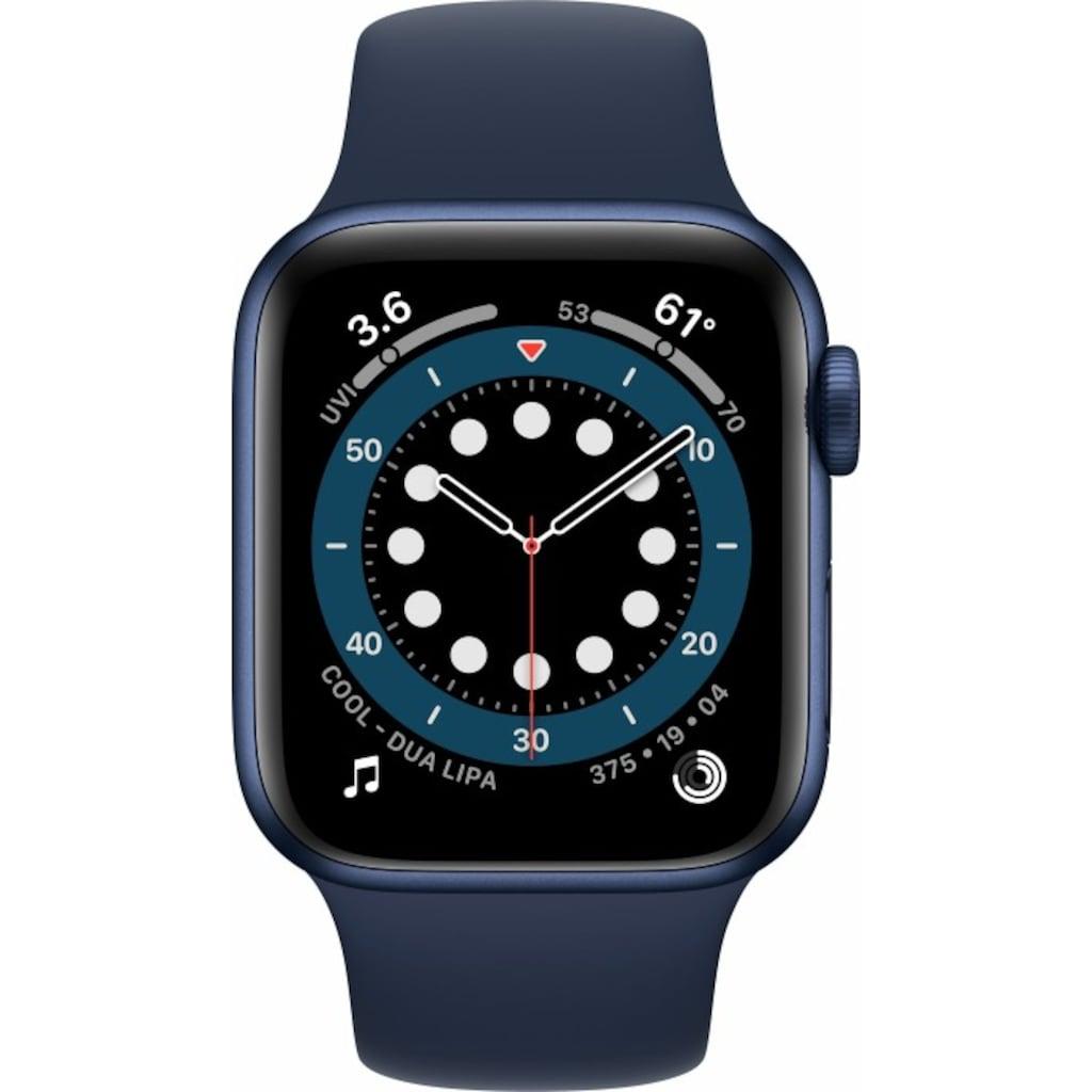 Apple Smartwatch »Series 6, GPS + Cellular, Aluminium-Gehäuse, 40 mm mit Sportarmband«