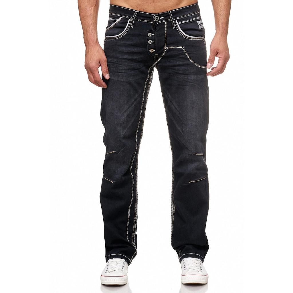 Rusty Neal Jeans mit praktischem Knopfverschluss