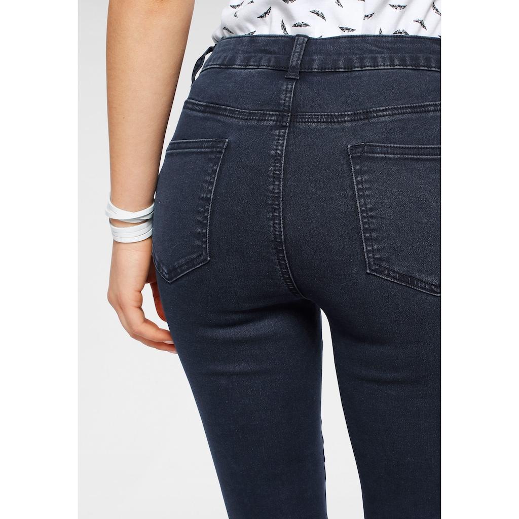 Arizona Skinny-fit-Jeans »Ultra Stretch«, High Waist mit offenem Saum