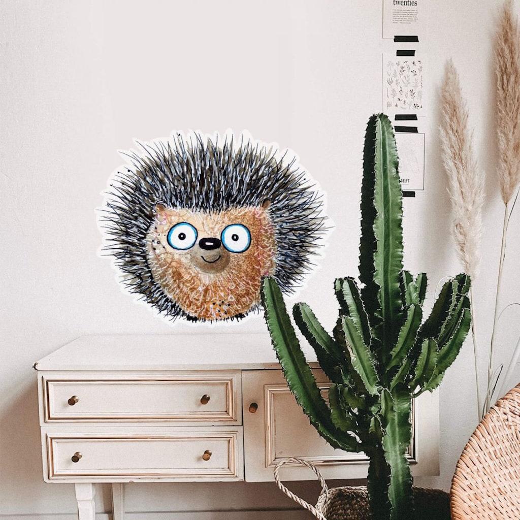 Wall-Art Wandtattoo »Lebensfreude - Kleiner Igel«