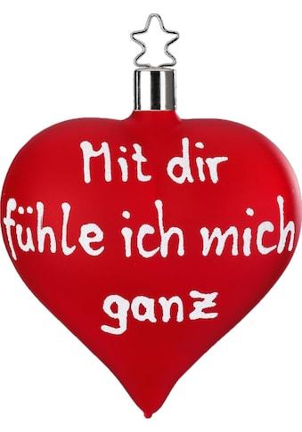 """INGE - GLAS® Christbaumschmuck """"Mit dir fühle ich mich ganz"""" (1 - teilig) kaufen"""