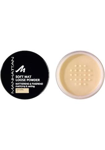 MANHATTAN Puder »Soft Mat Loose Powder« kaufen
