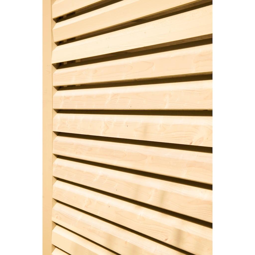 WOLFF FINNHAUS Seitenwand »Nina 28-B«, Für 5-Eck-Gartenhaus