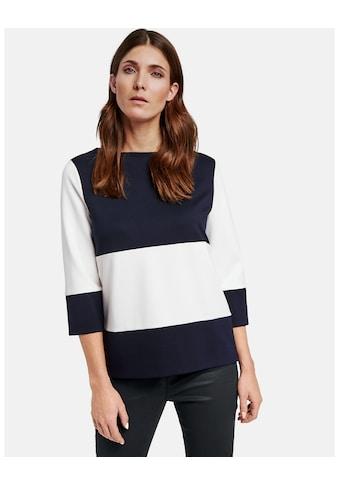 GERRY WEBER T - Shirt 3/4 Arm »3/4 Arm Shirt mit Blockstreifen« kaufen