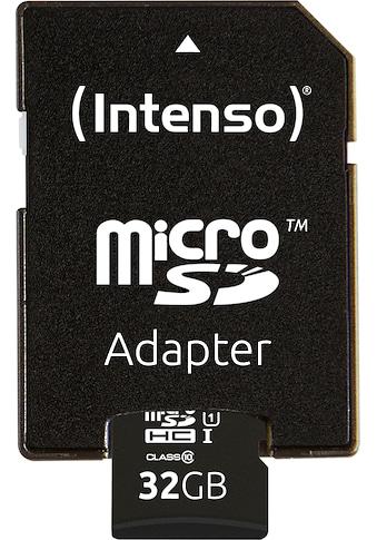 Intenso Speicherkarte »microSDHC UHS-I Premium + SD-Adapter«, ( 45 MB/s... kaufen