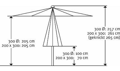 Schneider Schirme Sonnenschirm »Malaga«, ohne Schirmständer kaufen