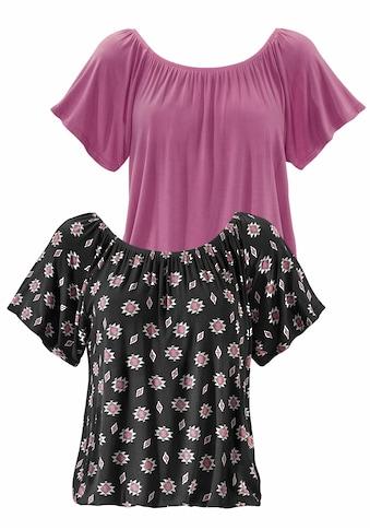 Buffalo Carmenshirt, mit elastischem Ausschnitt für zwei Tragevarianten kaufen