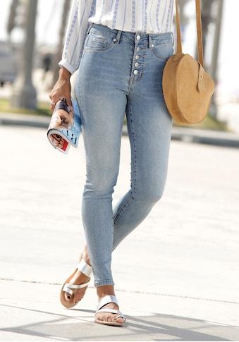 Buffalo High-waist-Jeans, mit modischer Knopfleiste kaufen