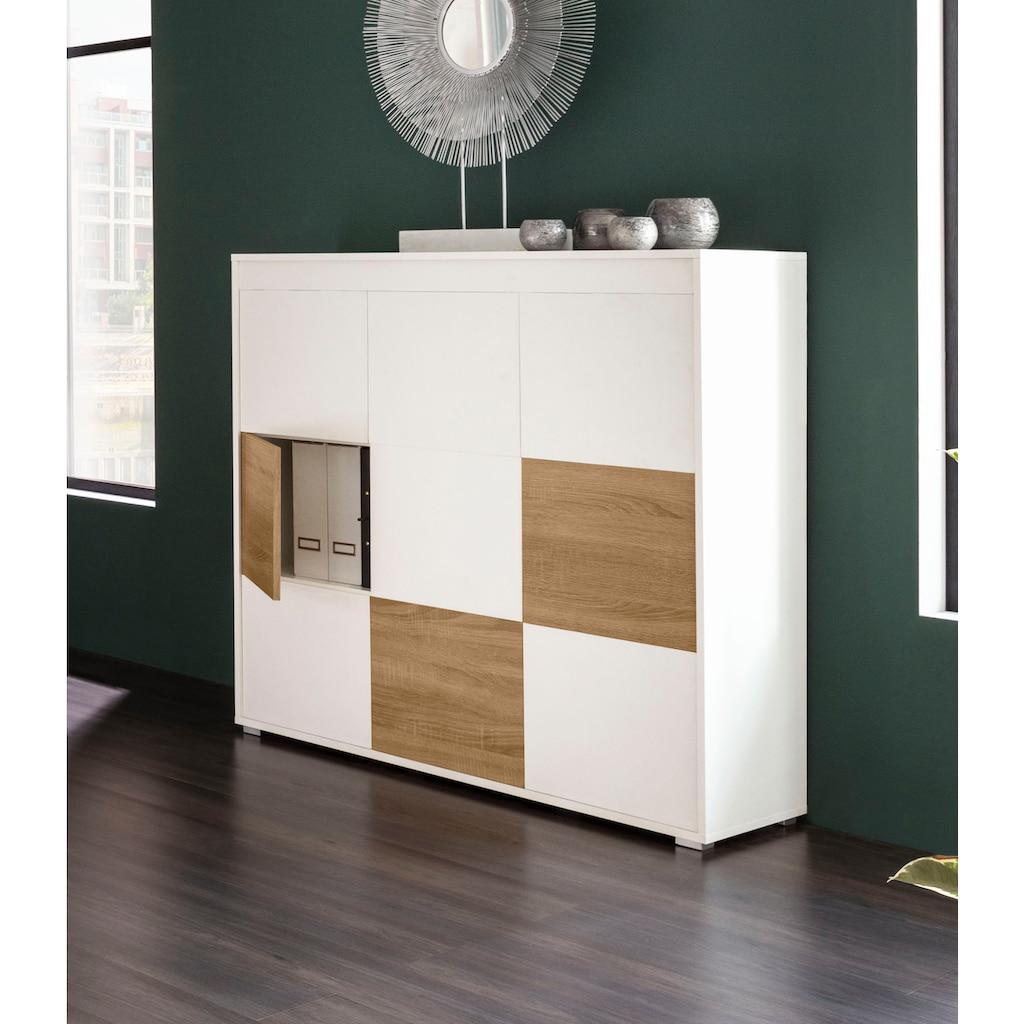 "Places of Style Aktenschrank »Ergil«, Aktenschrank ""Ergil"", 9 Türen mit Push-to-open-Funktion"