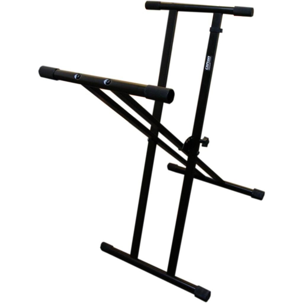 Clifton Keyboardständer »Double Cross«, mit Keyboardhocker