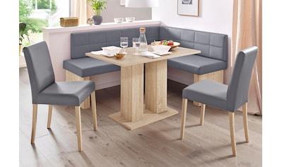 SCHÖSSWENDER Eckbankgruppe »Anna«, (Set, 4 tlg.), mit 2 Stühlen mit massiven Gestell kaufen