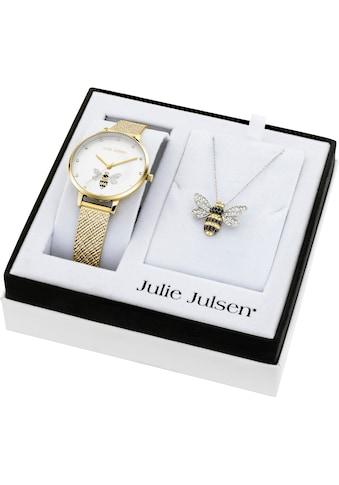 Julie Julsen Quarzuhr »Bee Box Gold, JJW1072YGME-SET«, (Set, 3 tlg., mit Kette und... kaufen