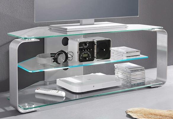 TV-Regal aus Glas