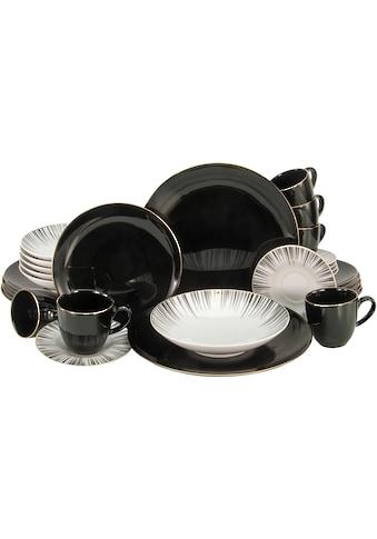 """CreaTable Kombiservice """"Enjoy Black Style"""" (30 - tlg.), Porzellan kaufen"""