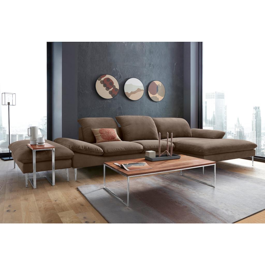 W.SCHILLIG Ecksofa »enjoy&MORE«, mit Sitztiefenverstellung, Füße Chrom glänzend, Breite 340 cm
