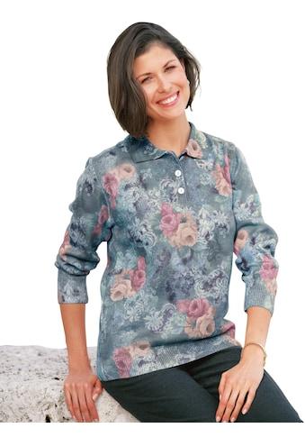Classic Polopullover mit floralem Alloverdruck kaufen