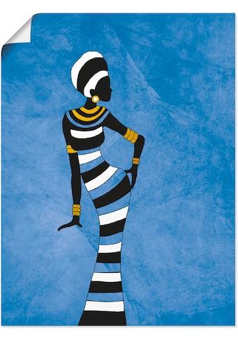 Artland Wandbild »Afrikanische Frau«, Frau, (1 St.), in vielen Größen & Produktarten -... kaufen