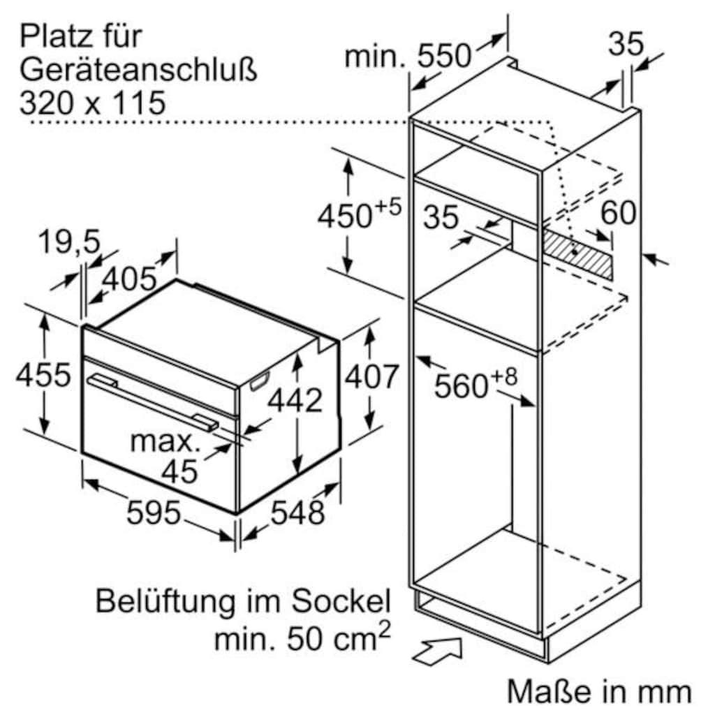 SIEMENS Backofen mit Mikrowelle »CM678G41«, CM678G41