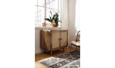Home affaire Sideboard »Snug«, aus Rattan-Geflecht und massivem Mangoholz, schöne... kaufen