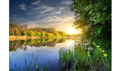 PAPERMOON Fototapete »River at the Sunset«, BlueBack, 7 Bahnen, 350 x 260 cm kaufen