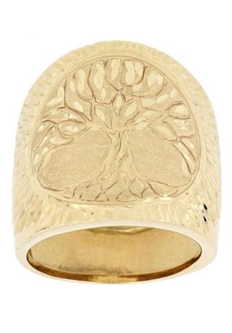 Firetti Goldring »Baum des Lebens, Diamantschnitt, glanz, satiniert, diamantiert« kaufen