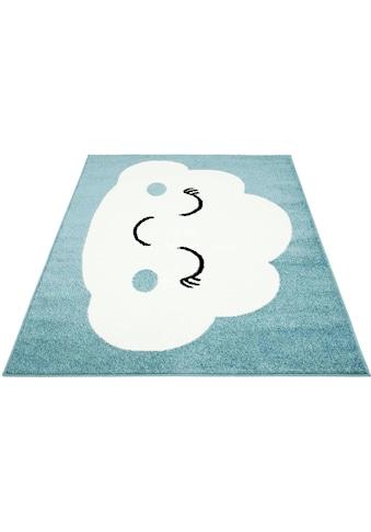 Carpet City Kinderteppich »Bubble Kids 1324«, rechteckig, 11 mm Höhe, Wolken Design,... kaufen