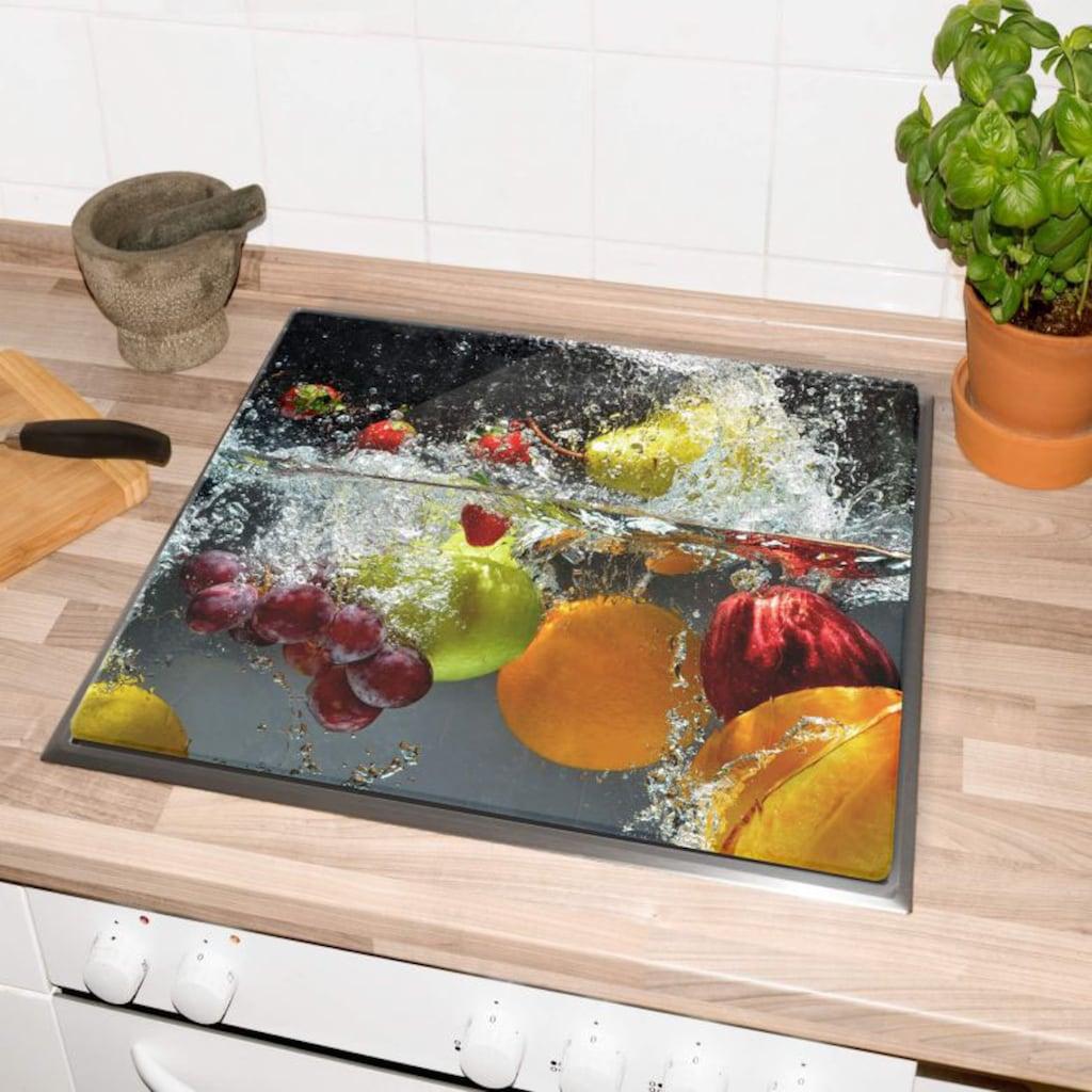 Wall-Art Herd-Abdeckplatte »Glasbild Erfrischendes Obst«, (1 tlg.)