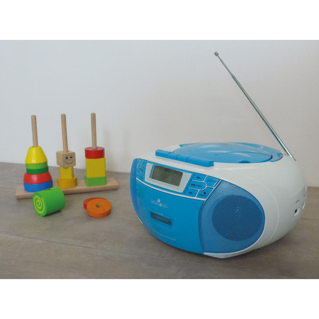 Schwaiger CD-Player mit Radio FM Kasette MP3 USB Anschluss AUX Kopfhörer