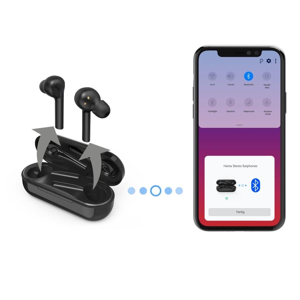 Hama In Ear Kopfhörer, Bluetooth Ohrhörer komplett kabellos