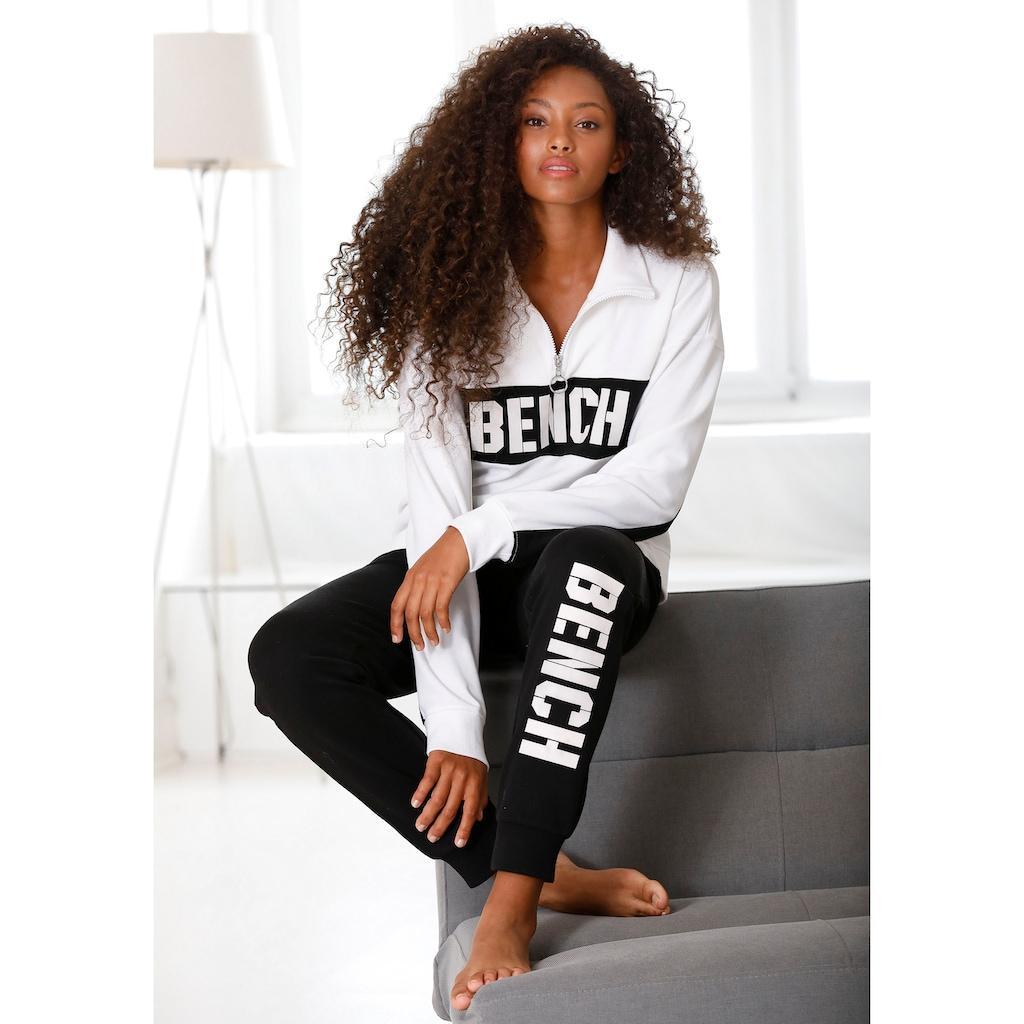 Bench. Sweatshirt »Contrast«, im Color-Blocking Design mit Logoprint