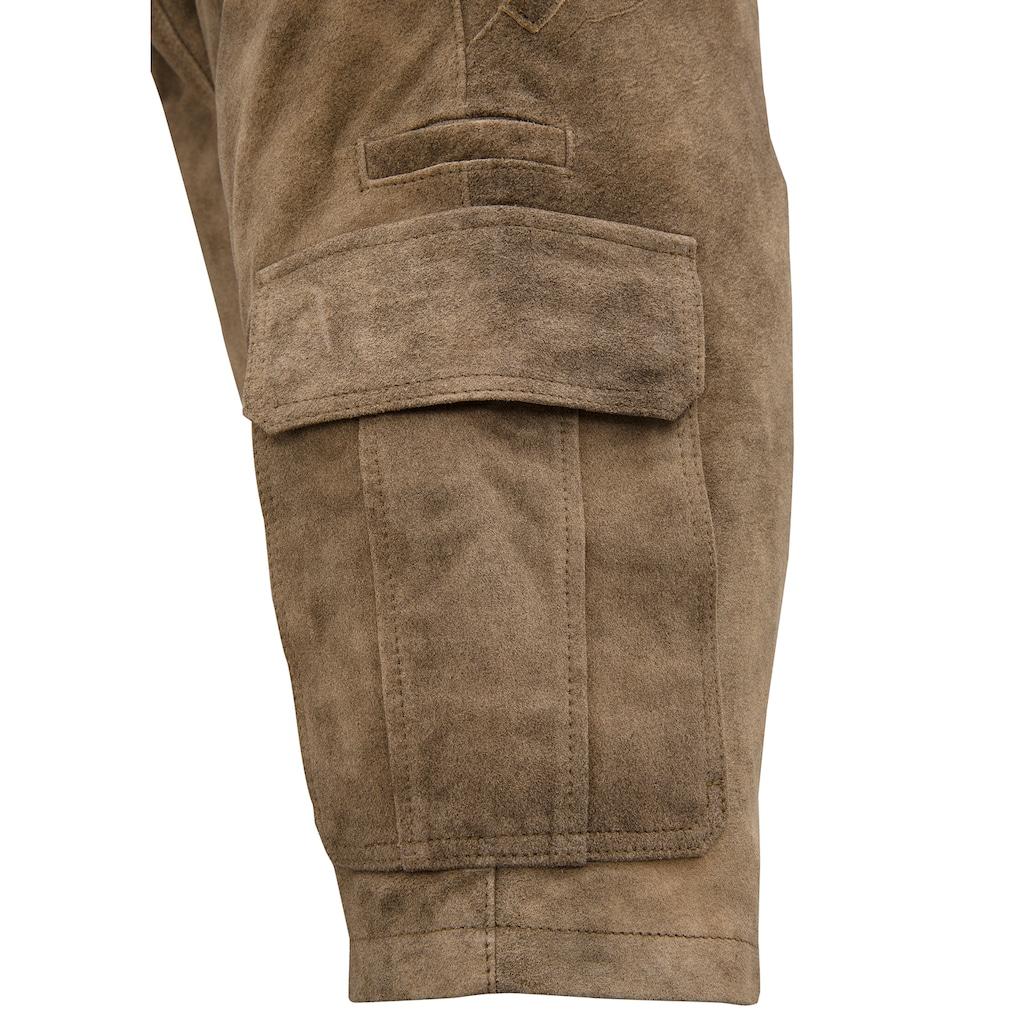 Spieth & Wensky Trachtenlederhose, mit seitlich aufgesetzten Taschen