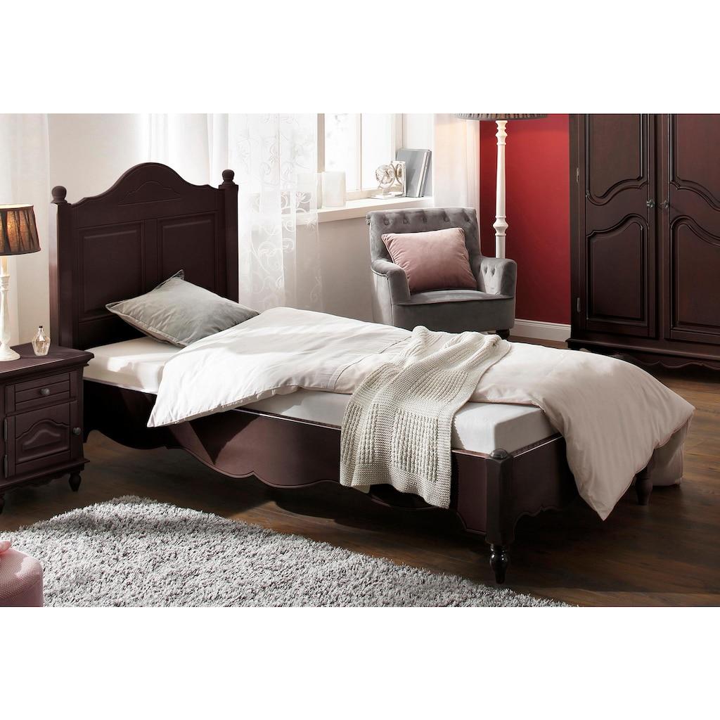 Premium collection by Home affaire Bett »Katarina«, in verschiedenen Bettbreiten erhältlich, mit schönen Kantenverzierungen