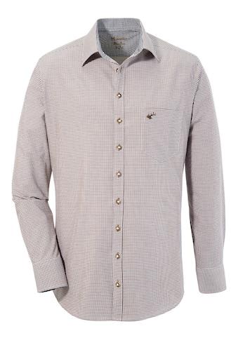 OS-Trachten Trachtenhemd, im Allover Karodesign kaufen