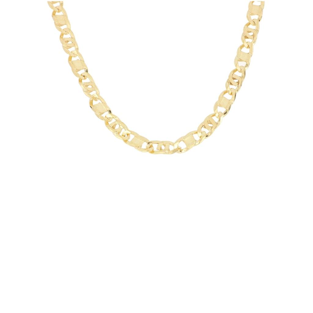 Firetti Goldkette »Achter-Rebhuhn-Plättchenkettengliederung, 5,5 mm breit, 6-fach diamantiert, konkav«