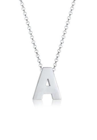 Elli Kette mit Anhänger »Buchstabe A Initialen Minimal 925 Sterling Silber« kaufen