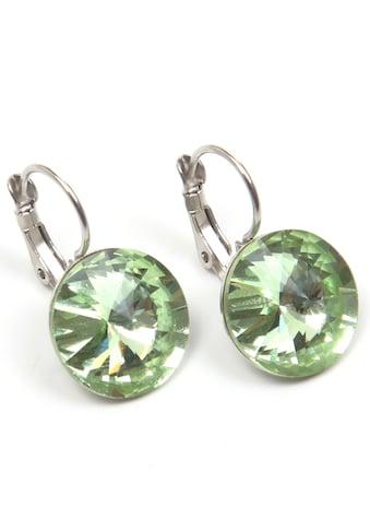 J.Jayz Paar Ohrhänger »leuchtend, bunt, rund«, mit Glasstein - Made in Germany kaufen